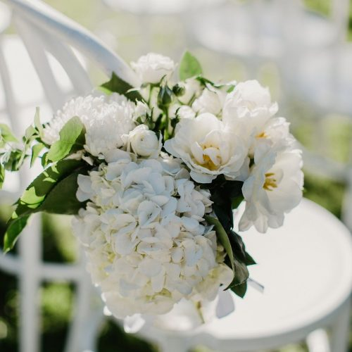 Flowers by The French Petal for the wedding of Sophia & Matt at Rae's